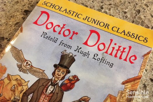Cover of Dr. Doolittle Scholastic Junior Classics paperback book.