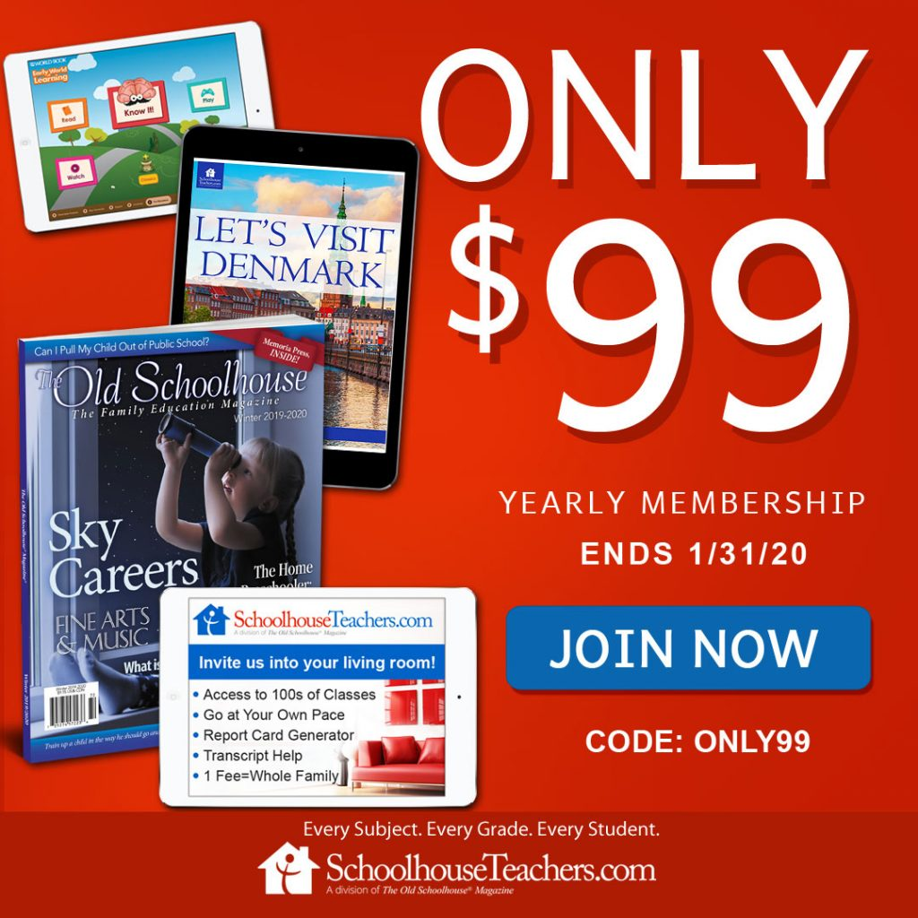 Schoolhouse Teachers Membership Sale only $99/year