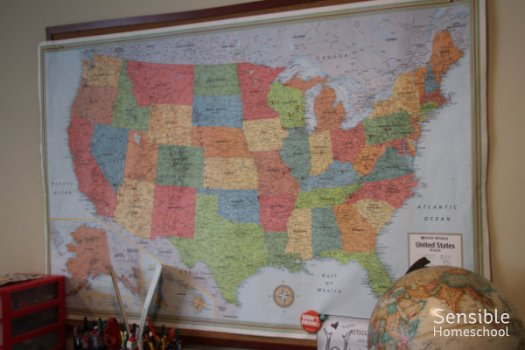 homeschool wall map of the USA