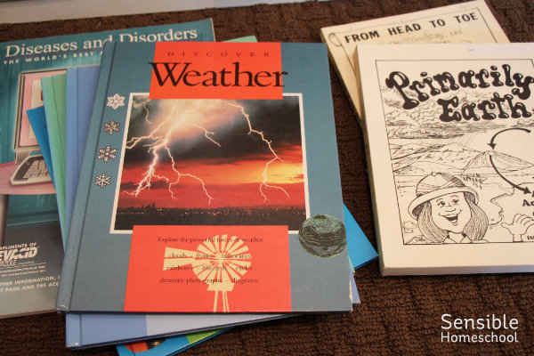 Homeschool science books and teacher resources