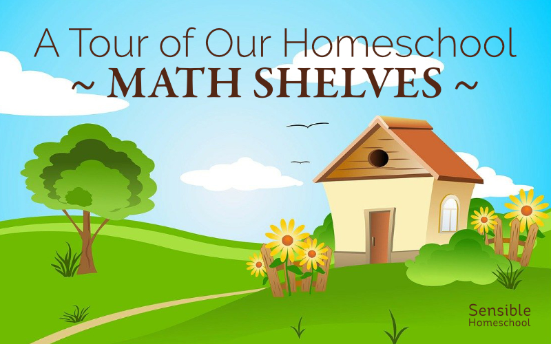 A Tour of Our Homeschool Math Shelves