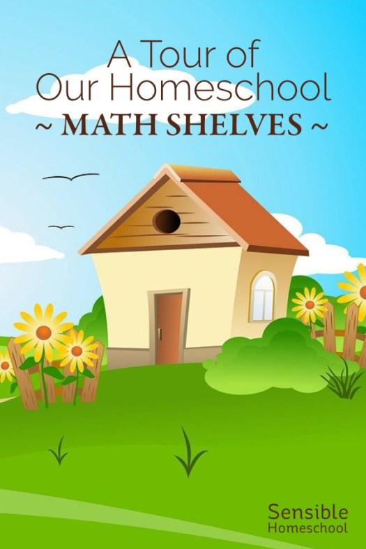 A Tour of Our Homeschool Math Shelves