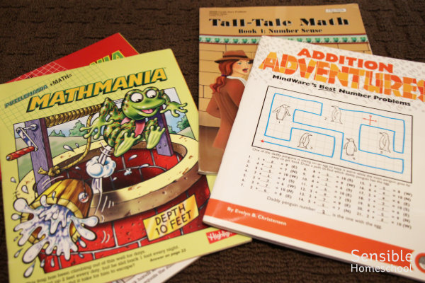 Mathmania and other homeschool math supplement workbooks