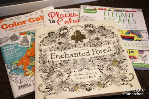 grown-up coloring detailed coloring books