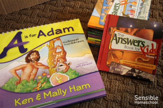 Bible and Apologetics resources including A is for Adam and The Answers Book for Kids series