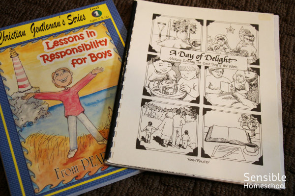 Lessons in Responsibility for Boys and A Day of Delight Christian books