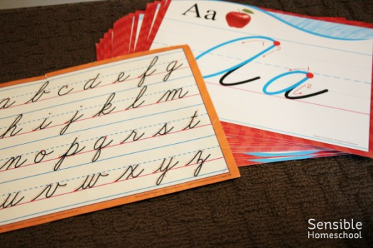 cursive tracing posters and cursive reference sheet