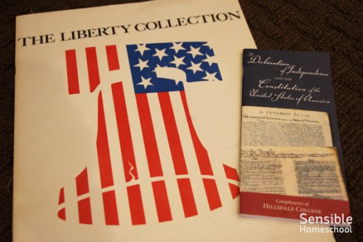 Liberty Collection USA documents including Constitution and Declaration of Independence