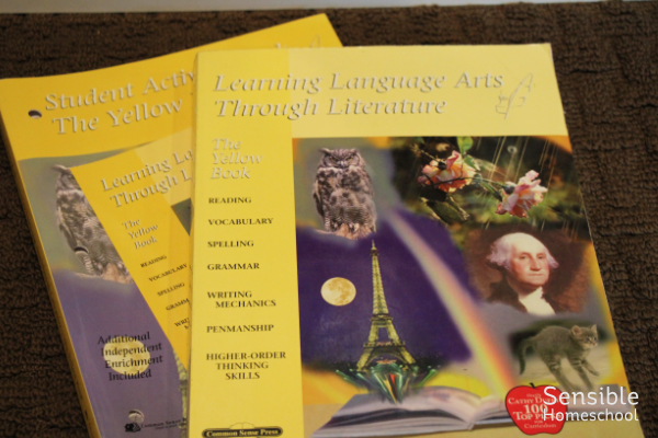 Learning Language Arts Through Literature Yellow Book homeschool curriculum