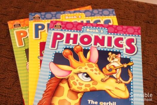 Teacher Created Materials Phonics workbook series for homeschool
