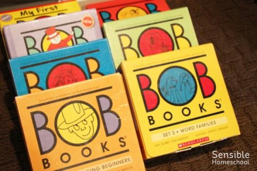 Bob Books phonics early reader series for homeschool