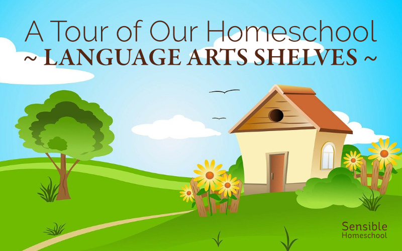 A Tour of Our Homeschool - Language Arts Shelves