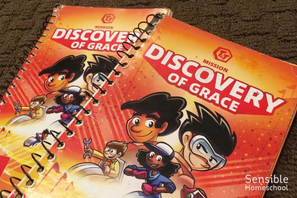 Homeschool kids AWANA T&T Discovery of Grace handbooks