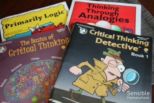 Four homeschool logic workbooks for elementary aged students