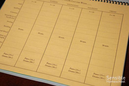 Homeschool Planner to-do list blank template