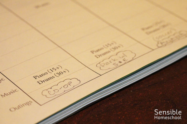 Homeschool weekly planner to-do list with weekly activities