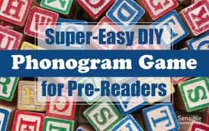 Super-Easy DIY Phonogram Game for Pre-Readers