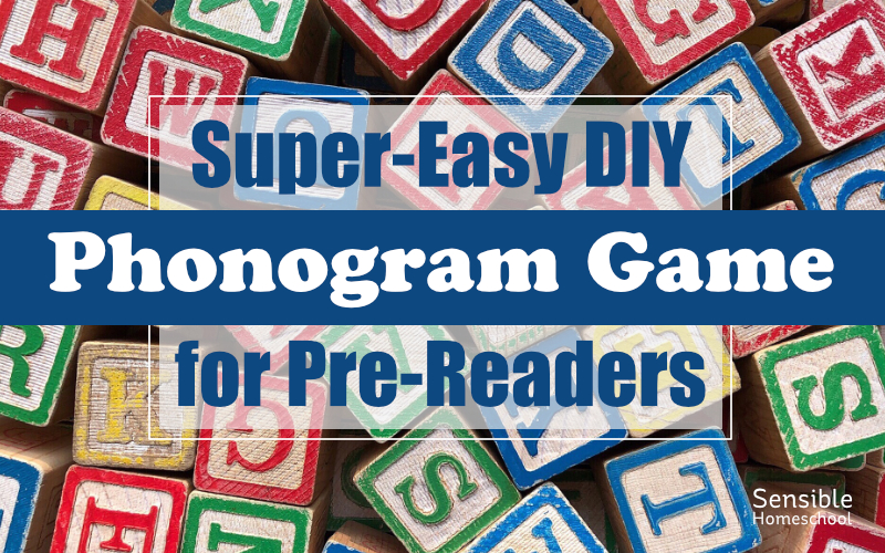 Super-Easy DIY Phonogram Game for Pre-Readers
