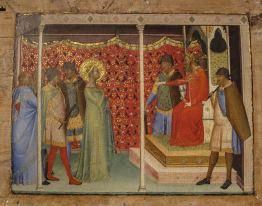Bernardo Daddi Santa Reparata davanti all'imperatore Decio 1340 circa - Copia