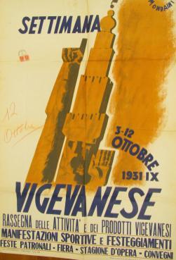 Manifesto della prima Settimana Vigevanese, 1931 (Ascv)