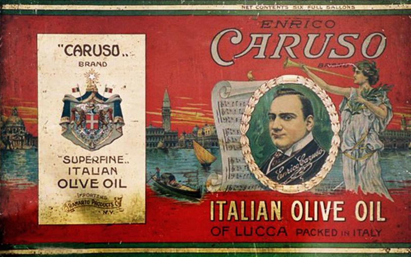 Lattine italiane per olio d'oliva. Collezione Guatelli 1860-1960