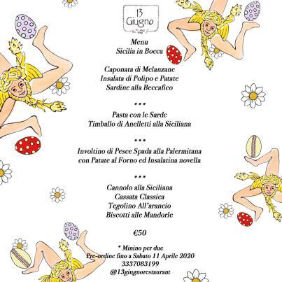 Menu Sicilia in bocca-Pasqua 2020