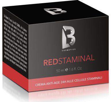 Red Staminal Cream scatola riflesso e ombra