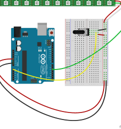 keep in mind that you could replace the potentiometer with virtually any other sensor which returns an analog range of numeric values back to the arduino  [ 1884 x 1683 Pixel ]