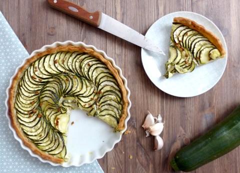 tarte aux courgettes 100% végétale