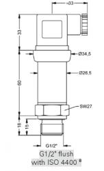 20 bar absolute steam pressure transducer