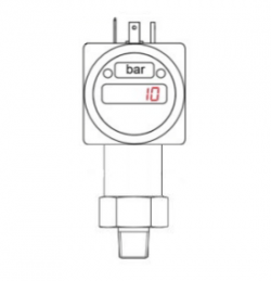 3000 psig range 0-10Vdc output digital display pressure