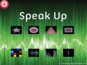 Speak Up main screen