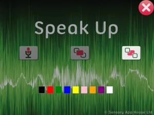 Speak Up settings - background colour