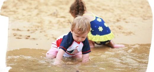 Josh playing in Australian ocean