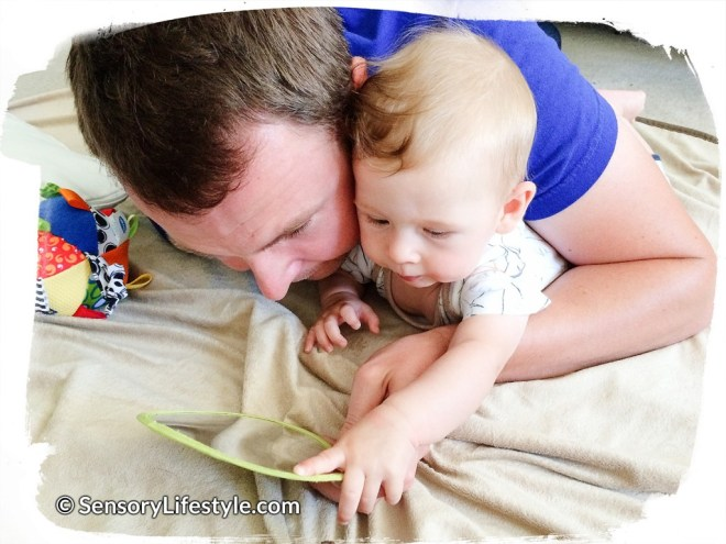 Sensory lifestyle - Daddy playing with Josh