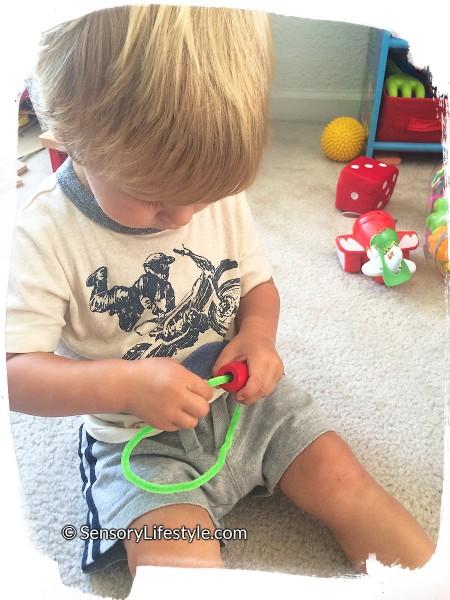 Josh lacing beads