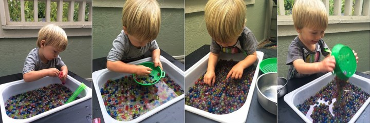 Josh with water beads