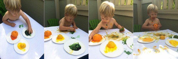 Painting with fruit
