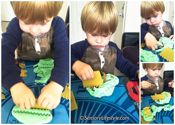 pasta and play dough