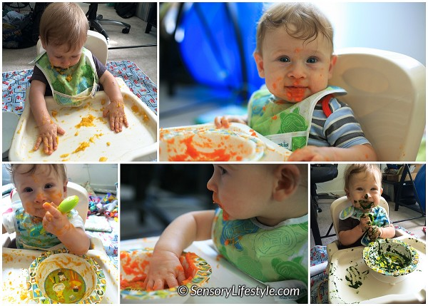 Food play at 6 months