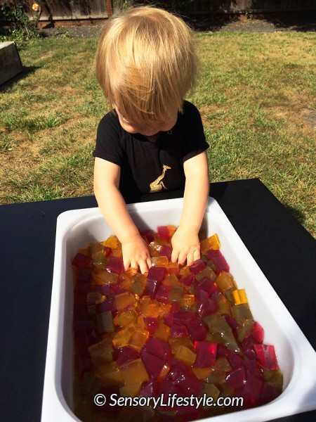 Gelatin play at 12 month