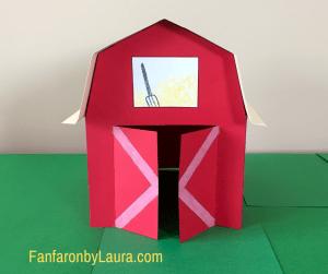 3D paper barn