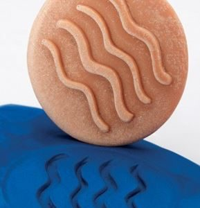 sensory stone dough play
