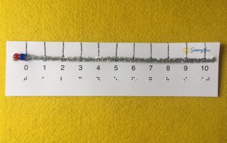 tactile number line slider with braille