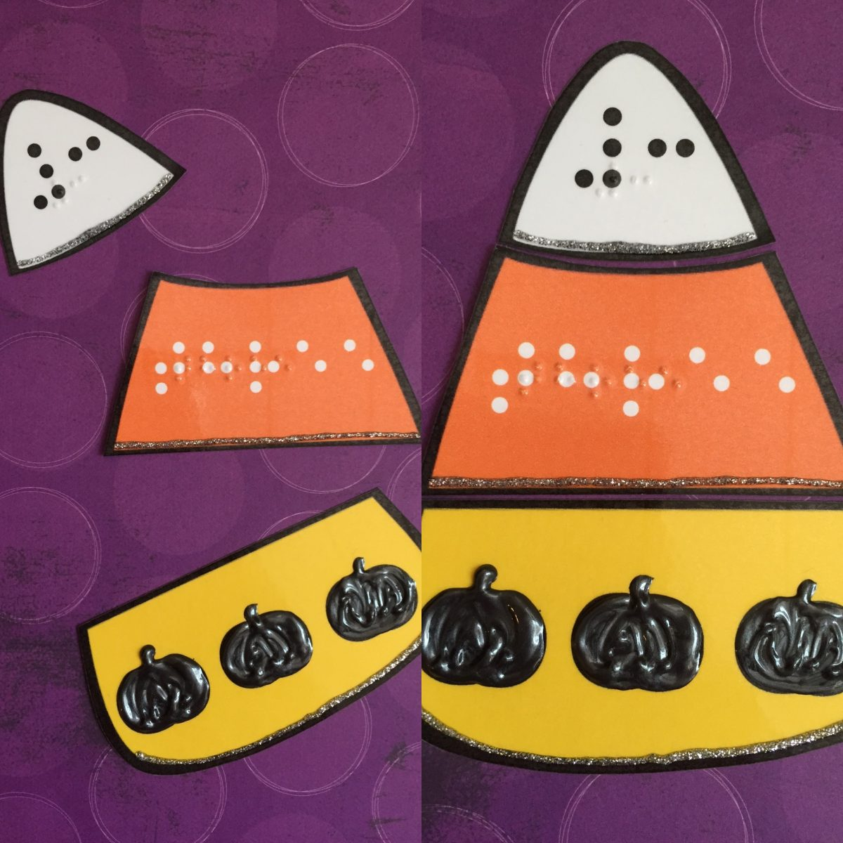 Candy Corn Numbers Math Game Nemeth Braille 0 10