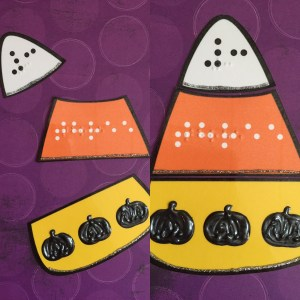 3 piece puzzle candy corn shaped