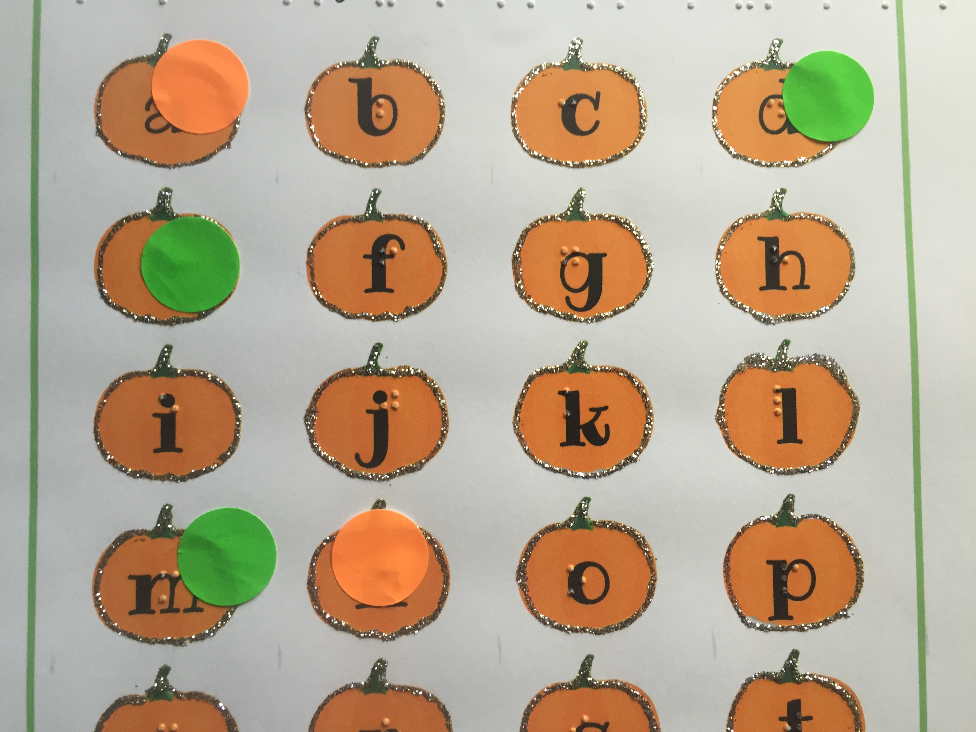 Letters In My Name Activity With Braille