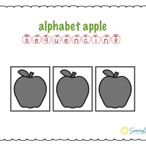 alphabet apple sequencing board by Sensory Sun