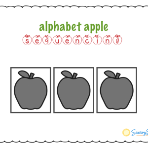 alphabet apple sequencing board by Sensory Sun