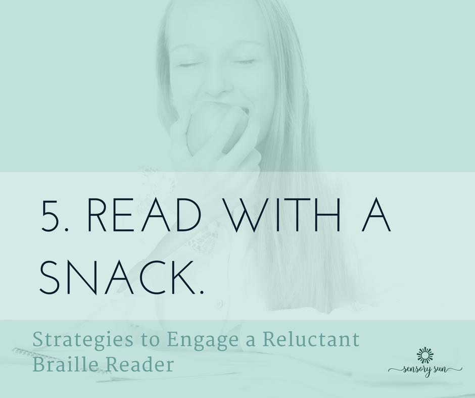 5. Read with a snack.